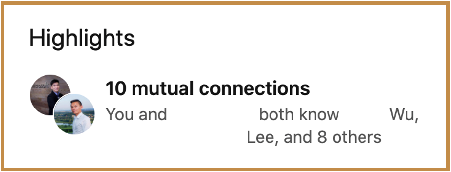 mutual connections on linkedin