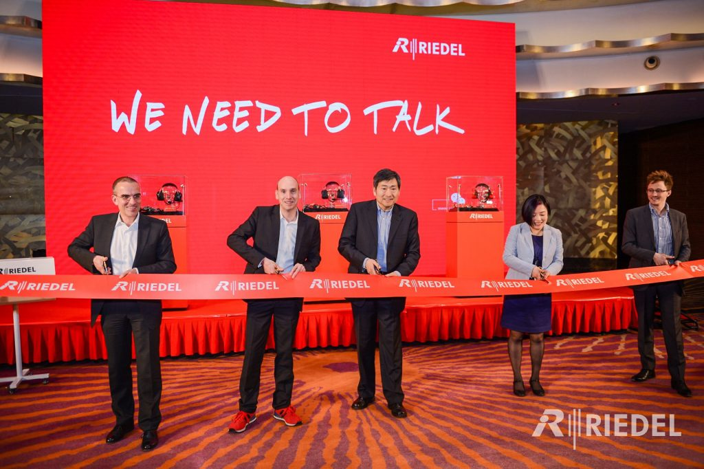 Lee Jiou Pahn at Riedel Beijing office opening ceremony.