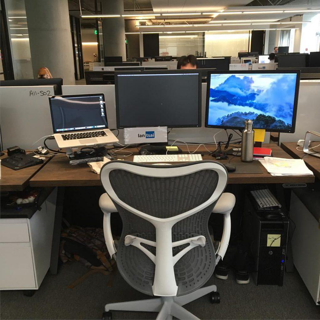 Photo taken by Ian Tsai working in LinkedIn